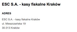 kasy fiskalne w Krakowie