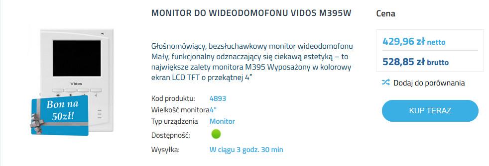 Monitory Wideodomofonów - Elektromaniacy Toruń